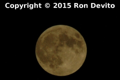 Rising Supermoon. Taken at Front St. behind the SIRT train shed September 27, 2015.