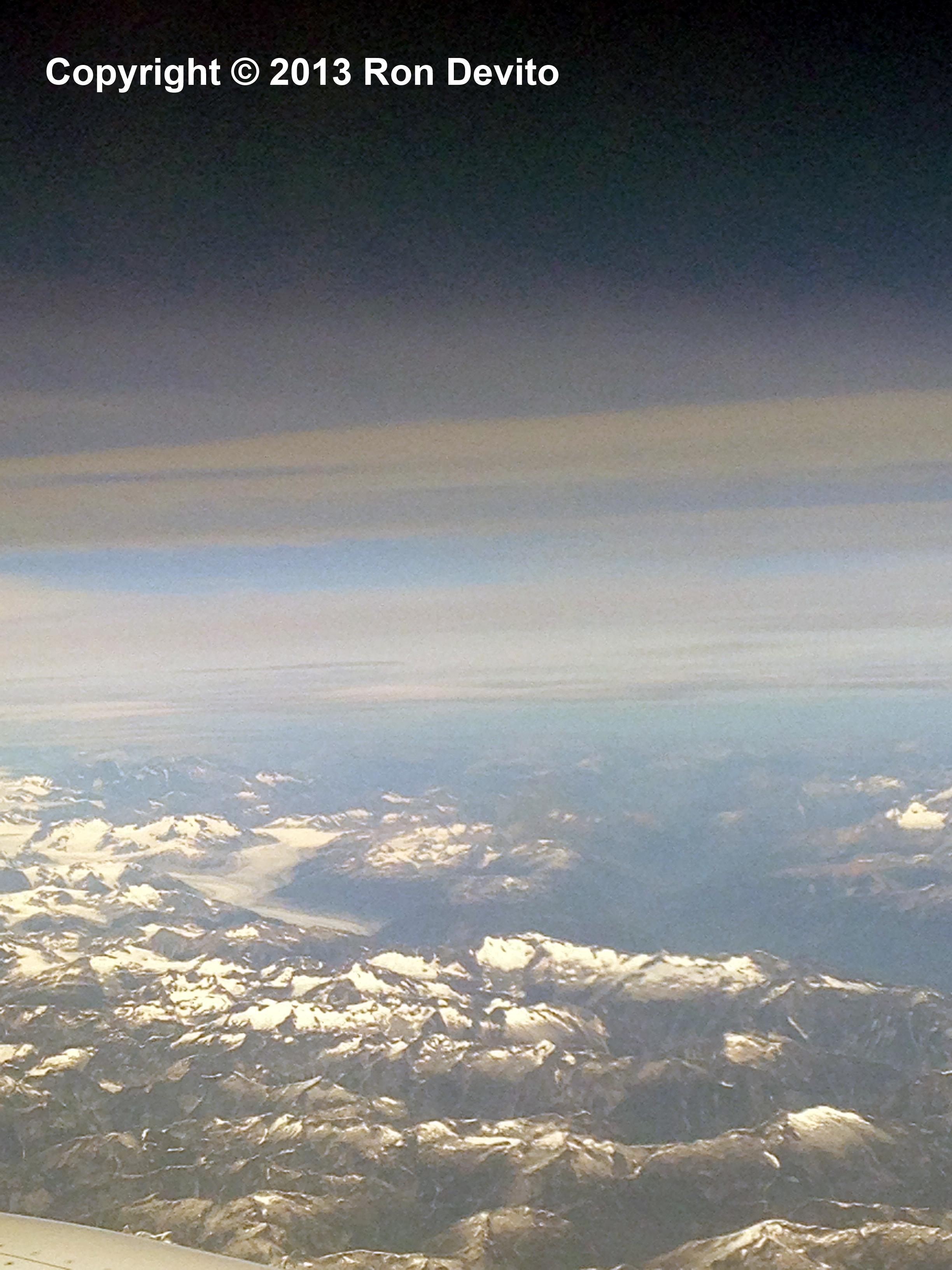Glaciers just north of Vancouver, British Columbia.