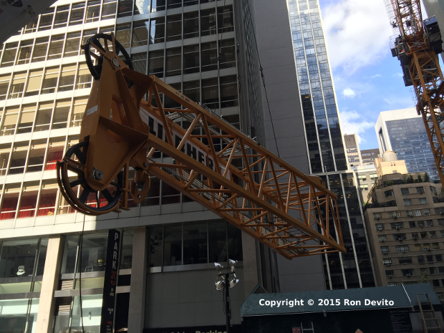 Tower Crane Assembly for MoMA Tower - September 13, 2015
